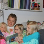 Reading 'Twas the Night Before Christmas