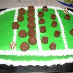 Superbowl football cake